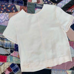 Vintage Valerie Stevens Cream Silk Crop Top